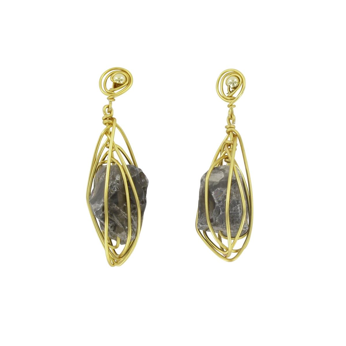 Ohrringe Drops, gold schwarz | Schmuck und Mode bei Private Suite
